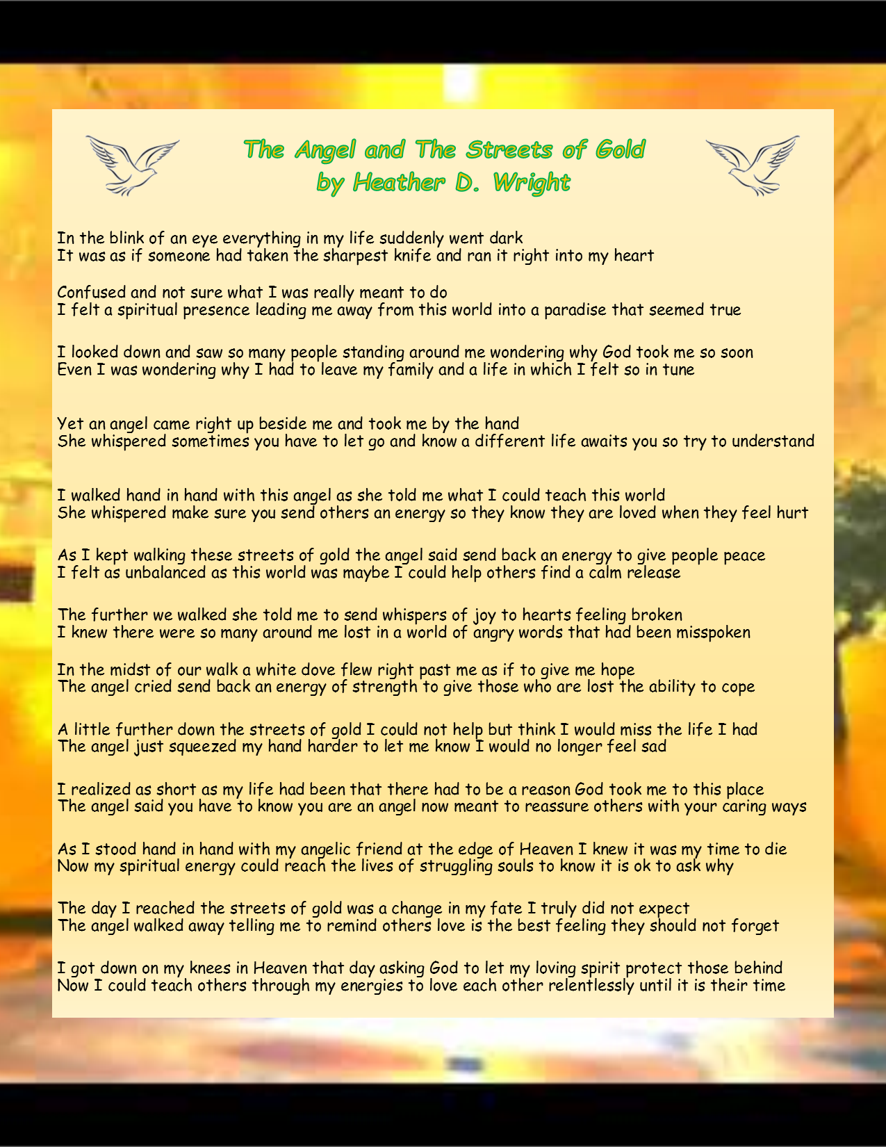 The Angel and the Streets of Gold - Printable Digital Download