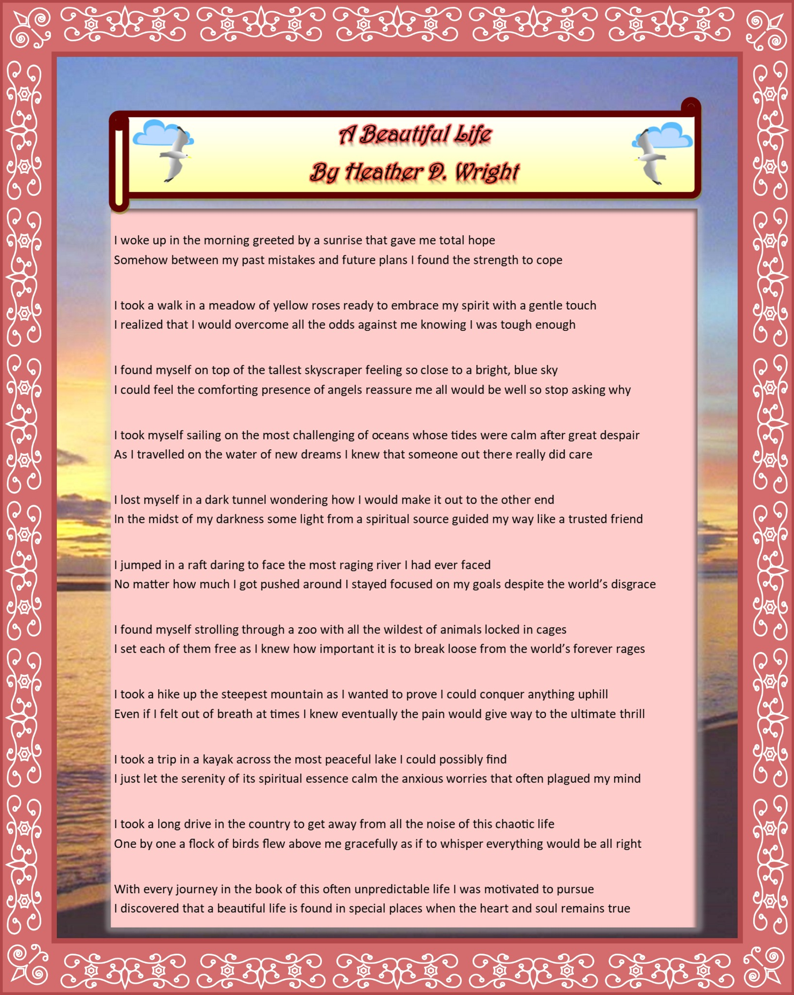 A Beautiful Life - Printable Poetry Download