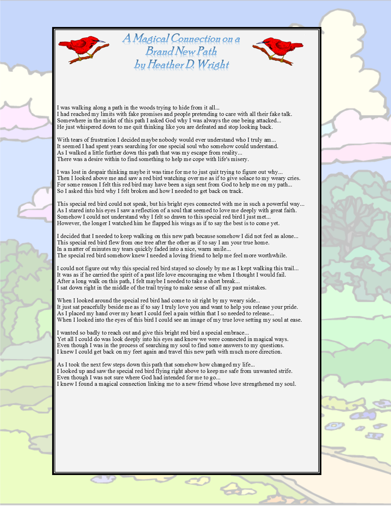 A Magical Connection on a Brand New Path - Printable Digital Download