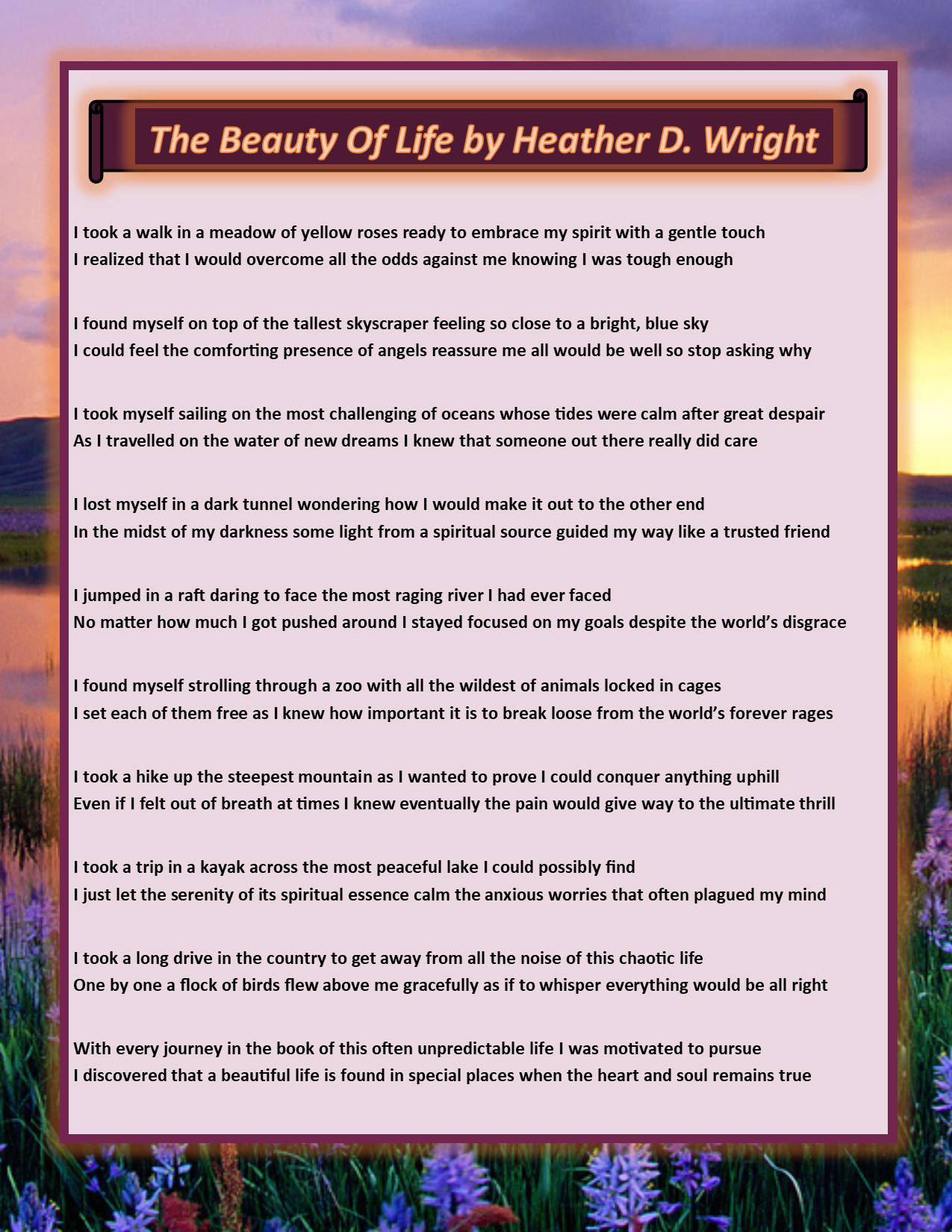 The Beauty of Life - Printable Digital Download
