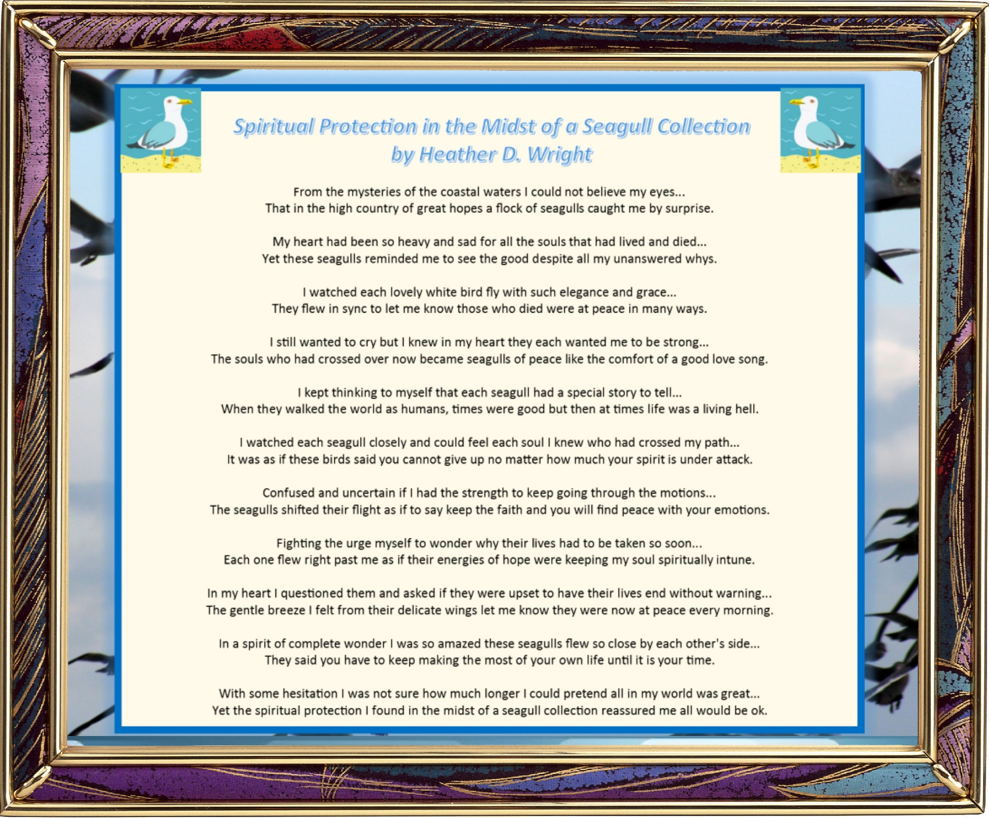Spiritual Protection in the Midst of a Seagull Collection - Printable Digital Download