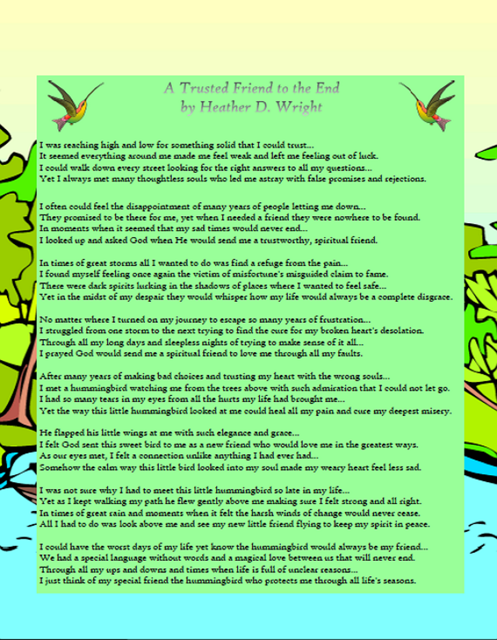 A Trusted Friend to the End - Printable Digital Download