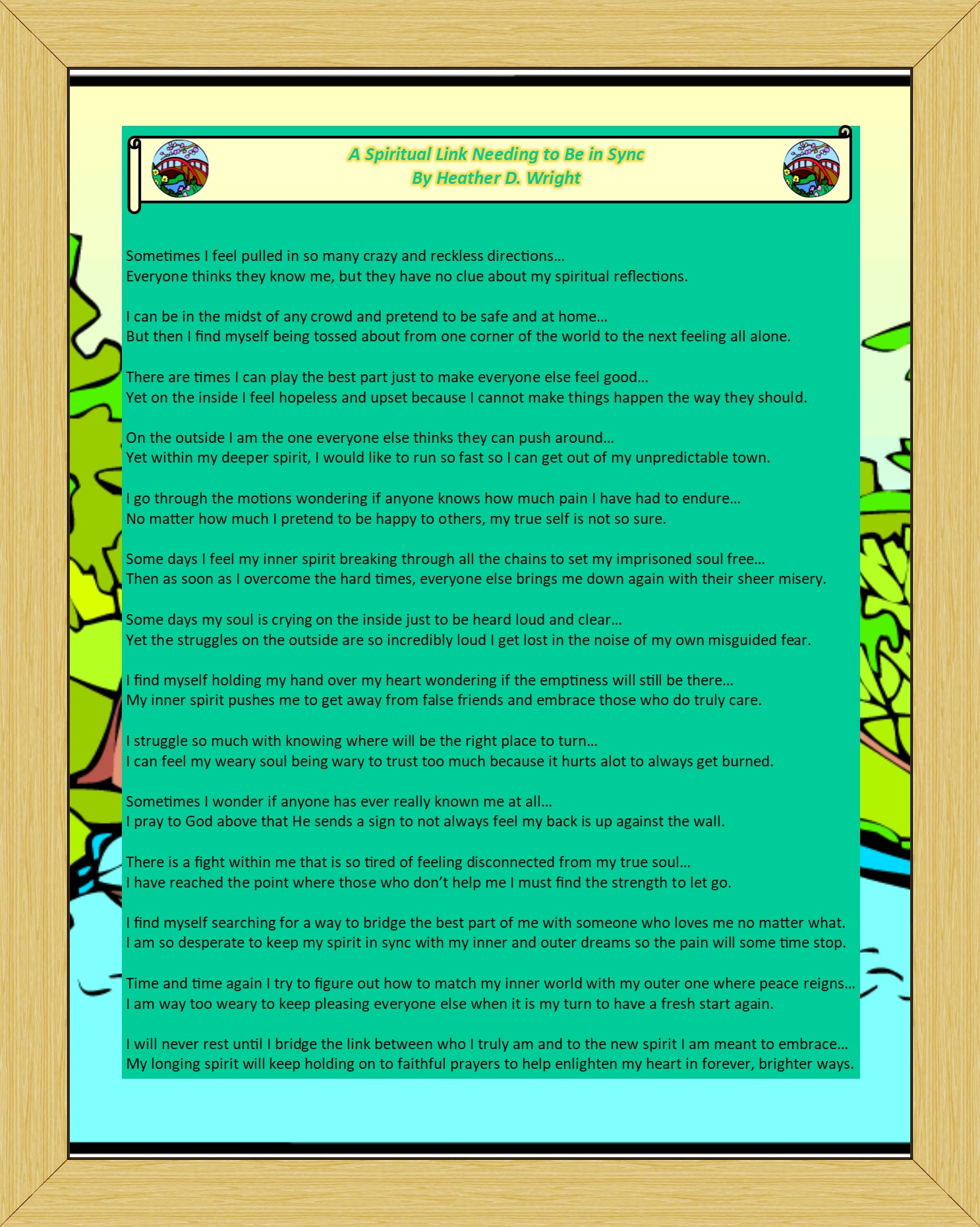 A Spiritual Link Needing to Be in Sync - Printable Digital Download