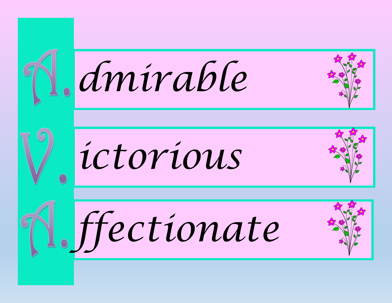 Special Nameplate - Ava - Printable Downloadable Design