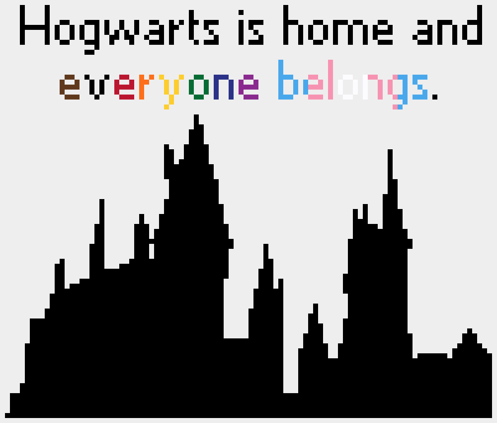 Hogwarts is Home digital cross stitch pattern