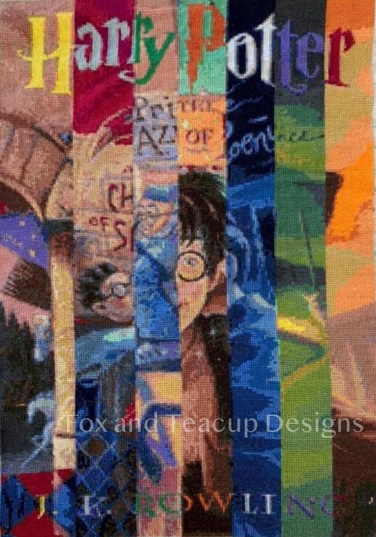 HP Book Cover Collage (US) - STANDARD digital cross stitch pattern