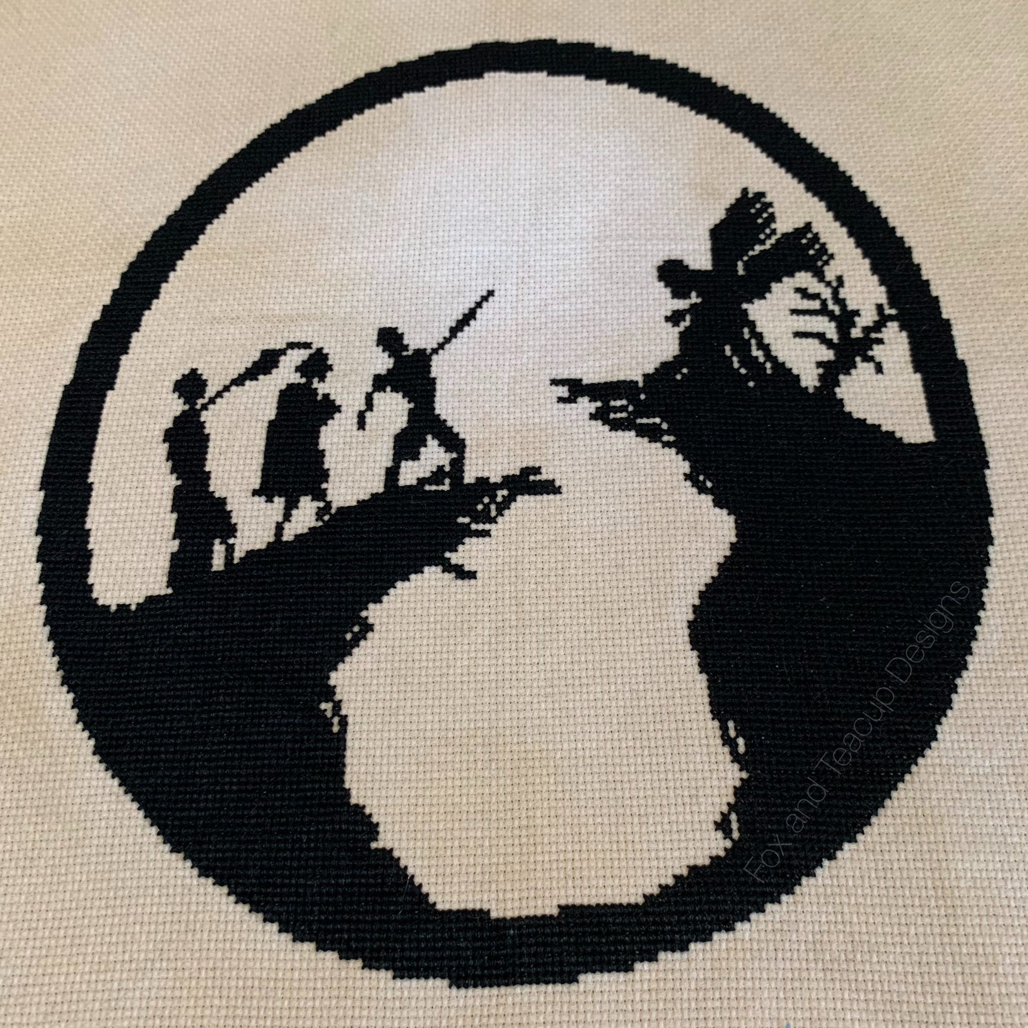 Three Brothers digital cross stitch pattern