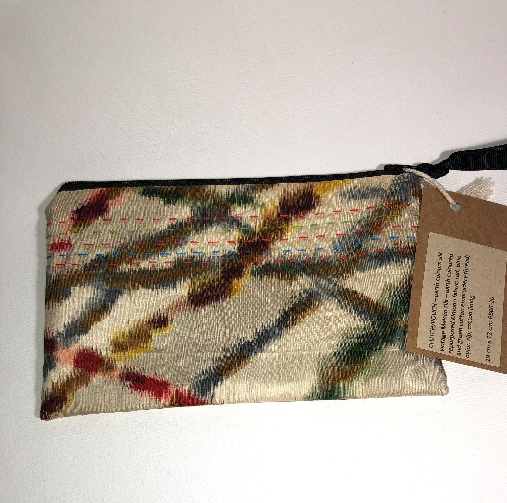 Pouch - vintage Japanese silk
