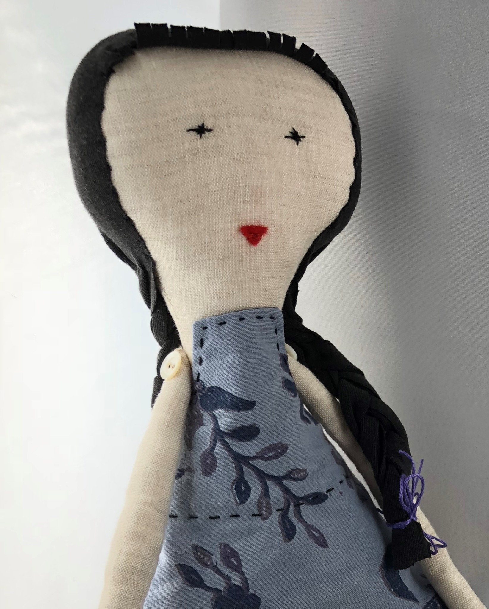Frederika - linen fabric doll