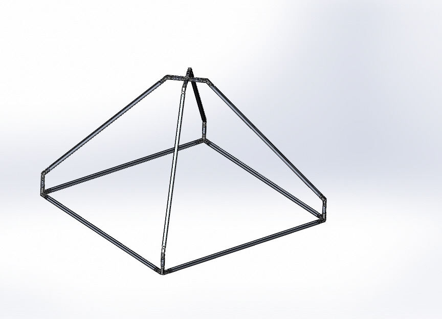 3d-printed greenhouse Smart greenhouse TYPE PYRAMIDE