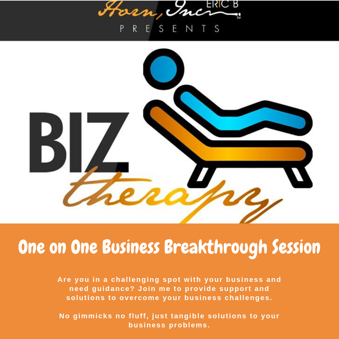 One on On BizTherapy Business Breakthrough VIP Session