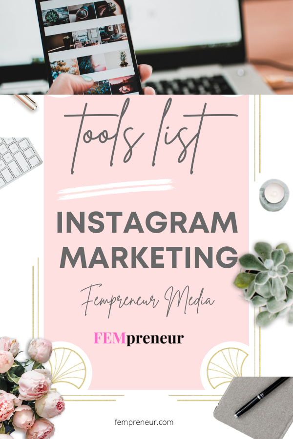 Checklist - Fempreneur Instagram Marketing List of Tools