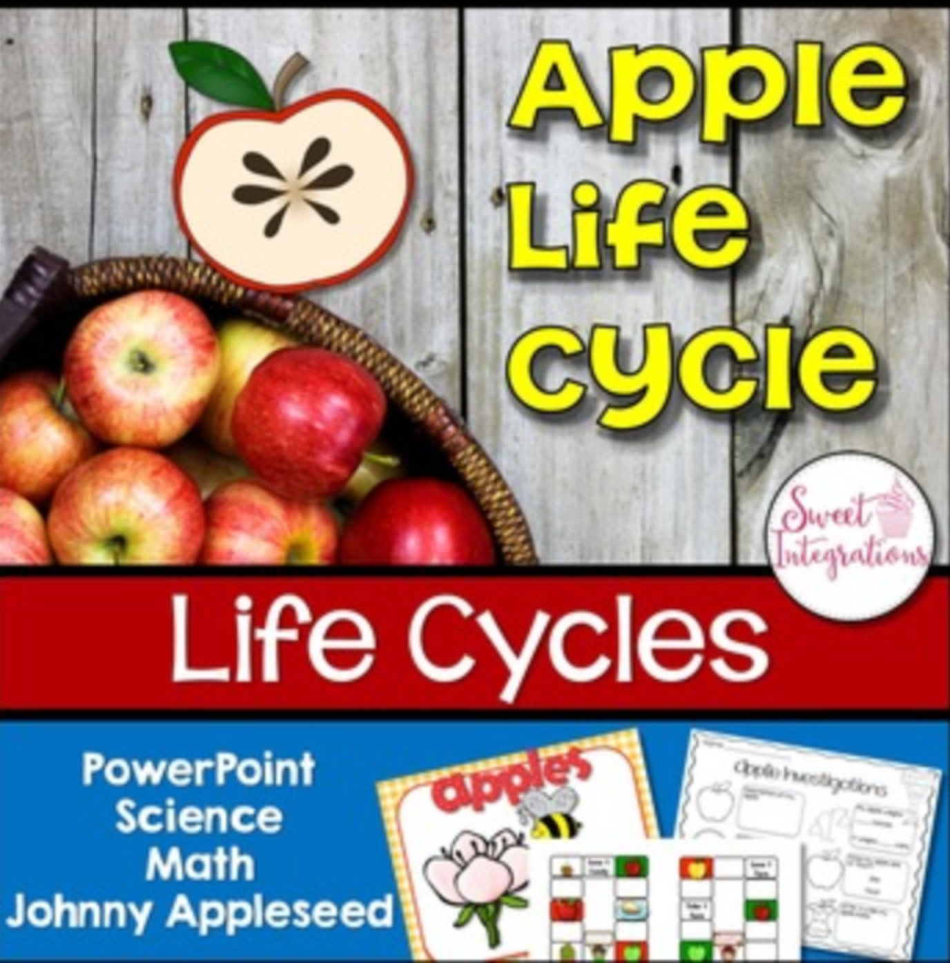 Apples Life Cycle - PowerPoint and Activities