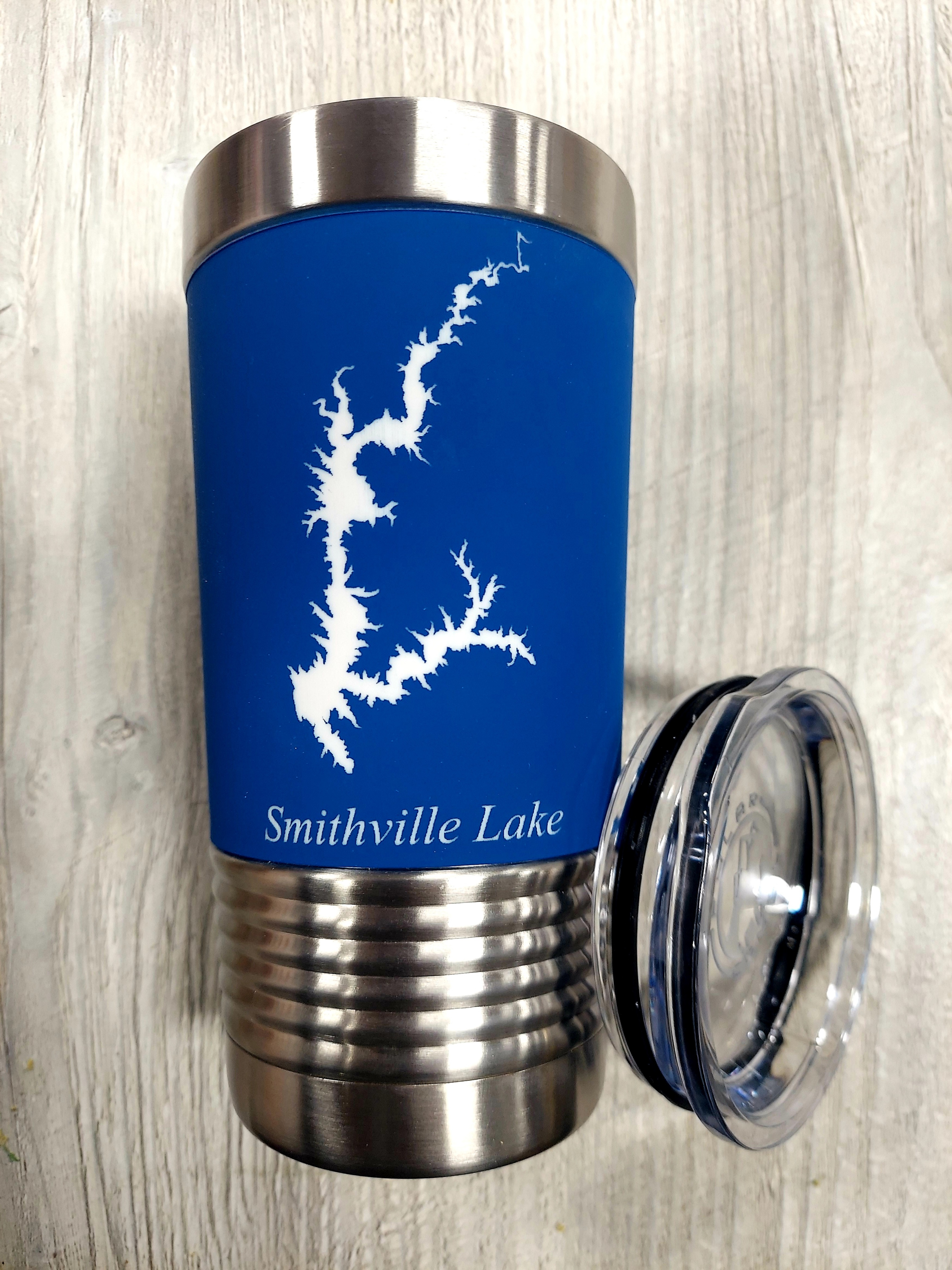 20 oz. Personalized Lake Silicone Grip Stainless Steel Tumbler