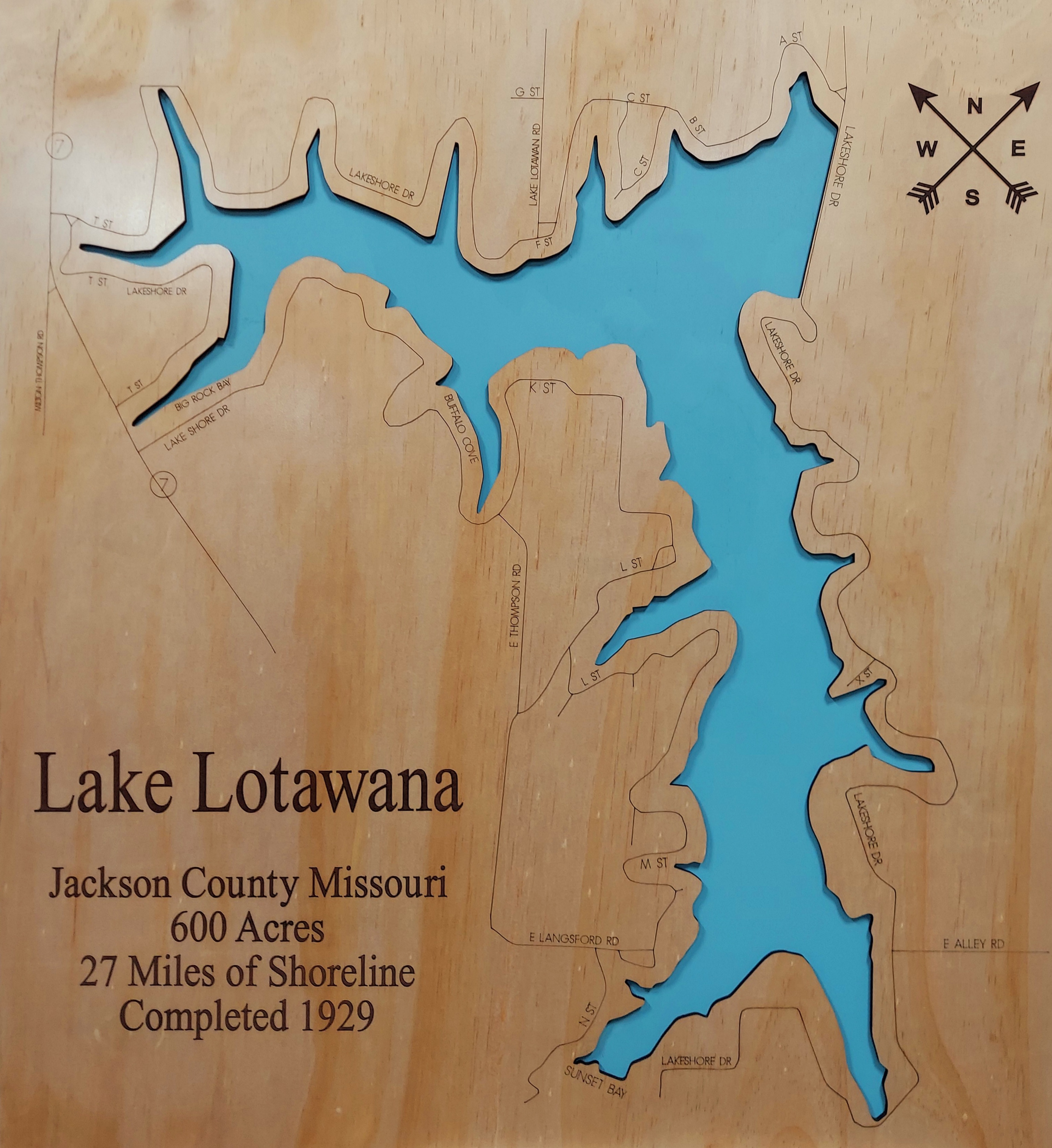 Lake Lotawana Wood Map