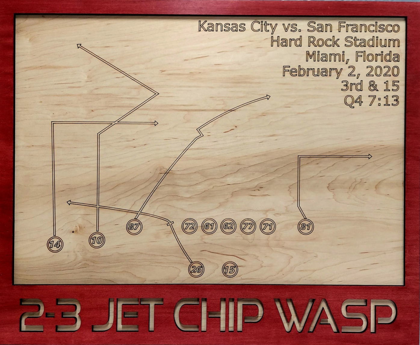 2-3 Jet Chip Wasp Wood Play Diagram -  Kansas City Football Play Chiefs