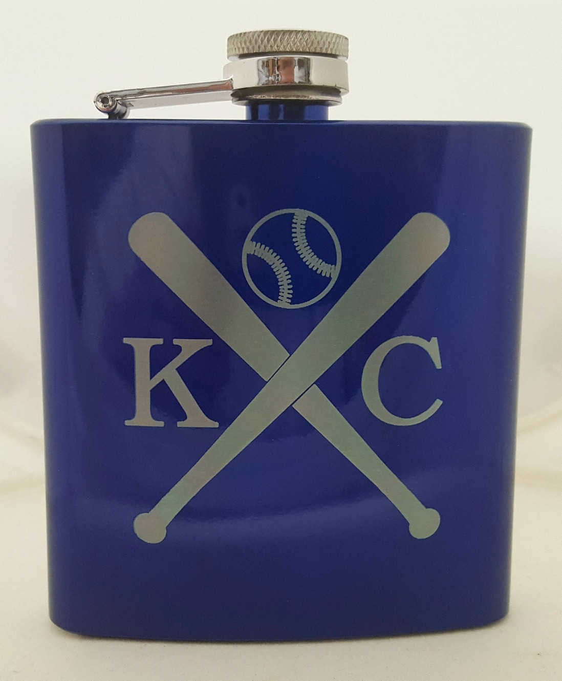 KC Baseball Flask