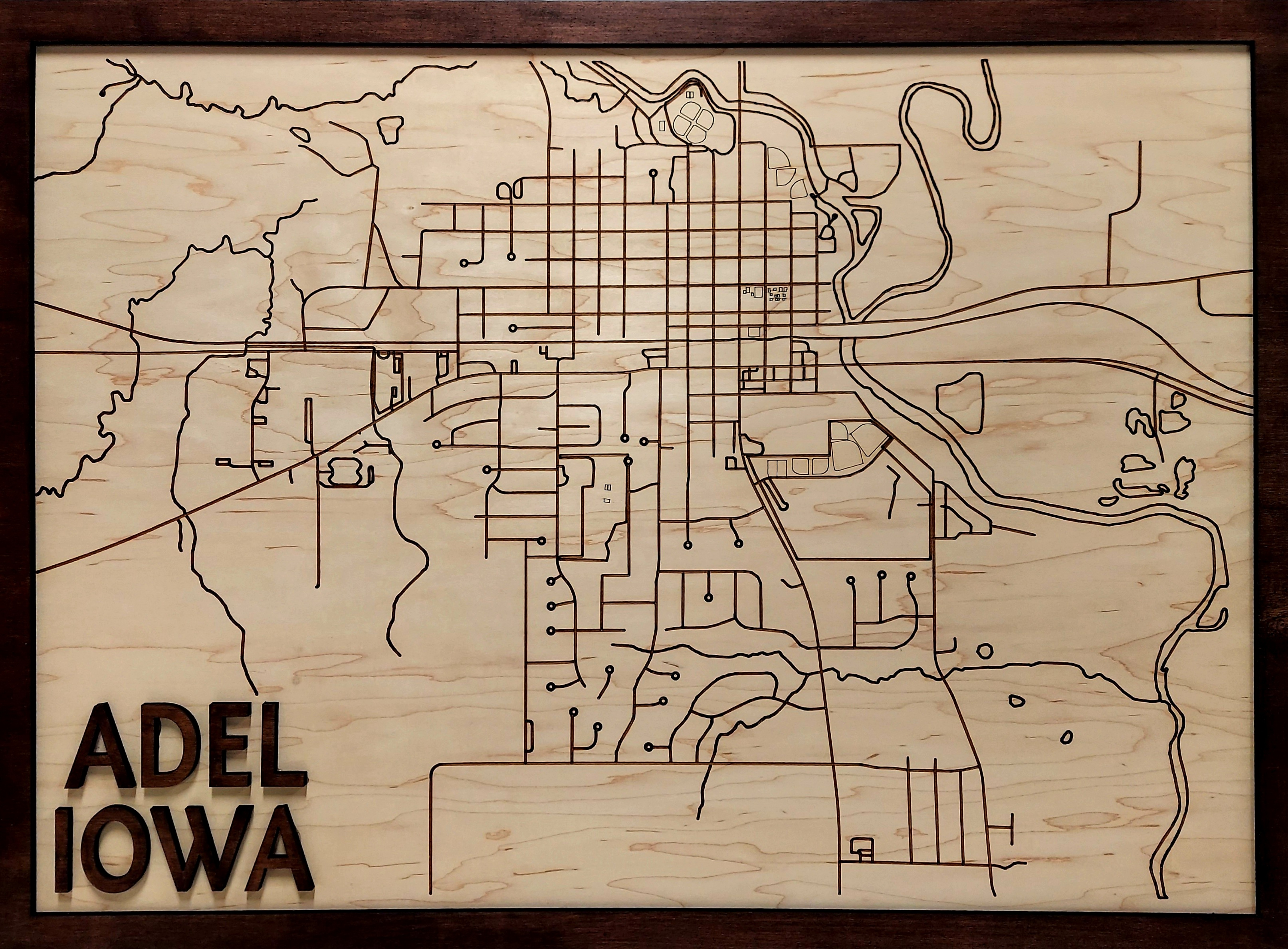 Hometown Wood Maps
