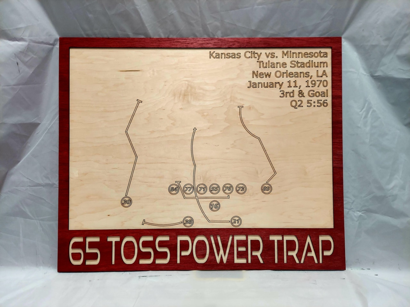65 Toss Power Trap Wood Play Diagram - Kansas City Football Chiefs