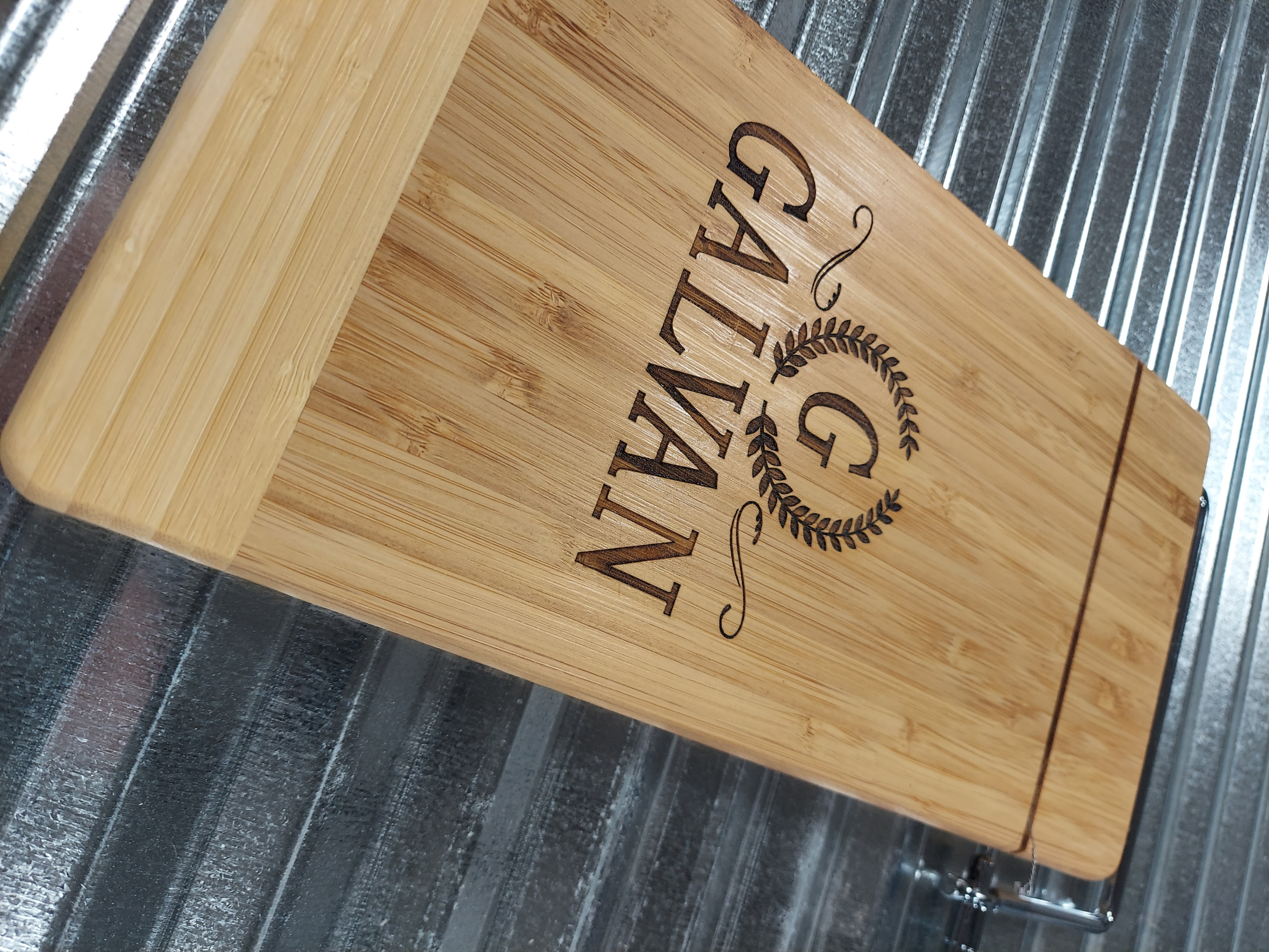 Personalized Bamboo Wire Cheese Slicer/Cutter/Serving Board