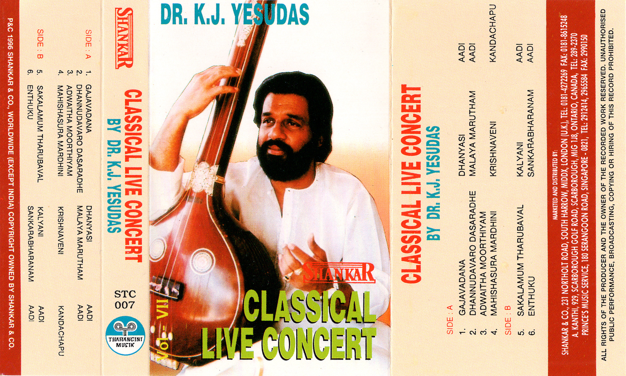 Classical Live Concert By Dr.J.K.Yesudas Vol 7