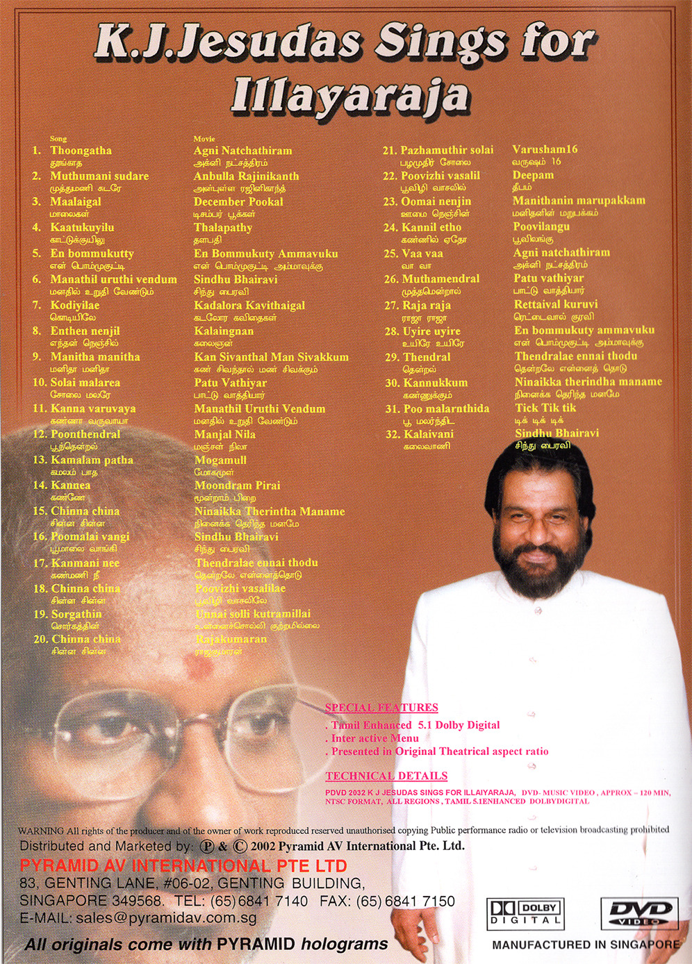 K.J.Yesudas Sings For Ilaiyaraaja