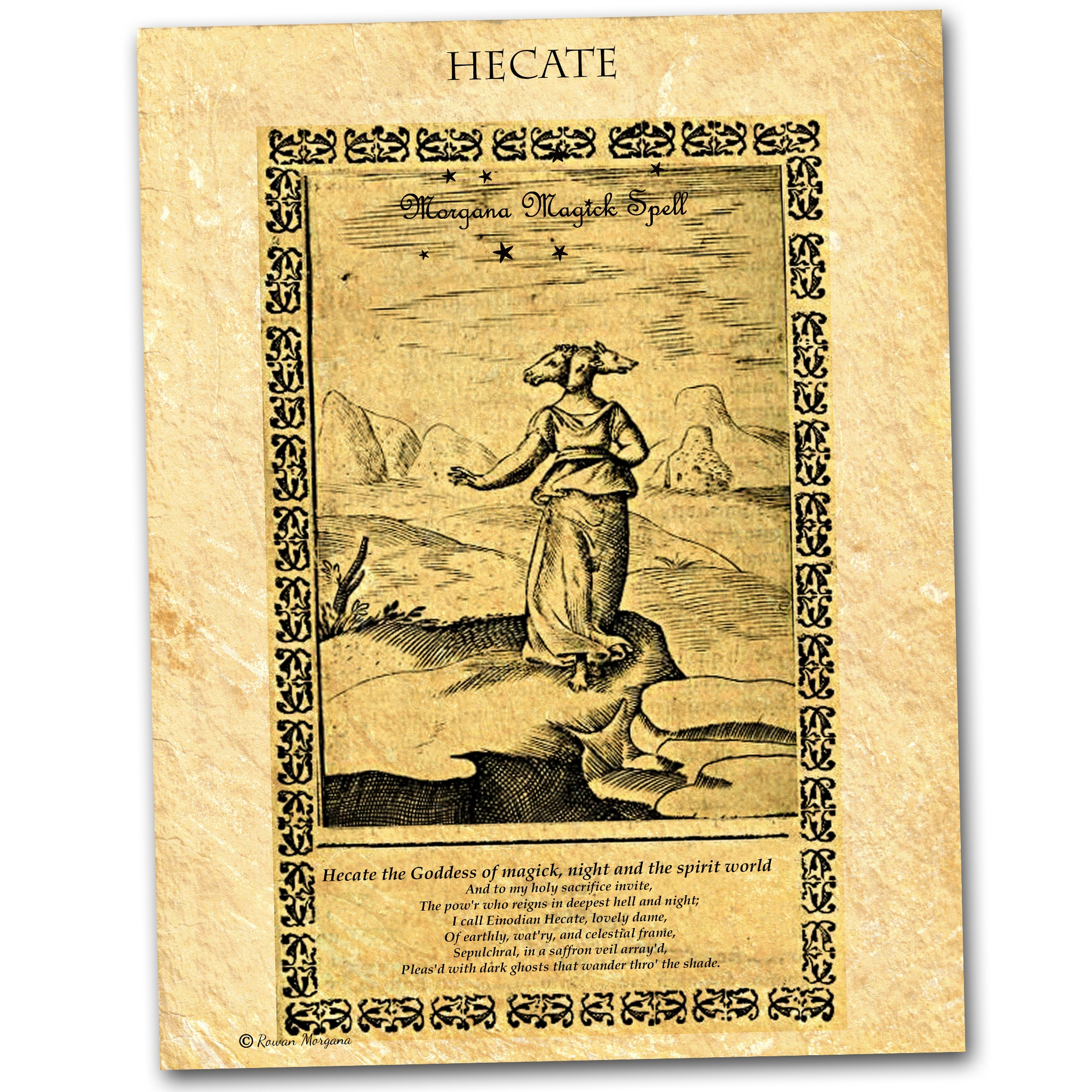 GODDESS HECATE PARCHMENT