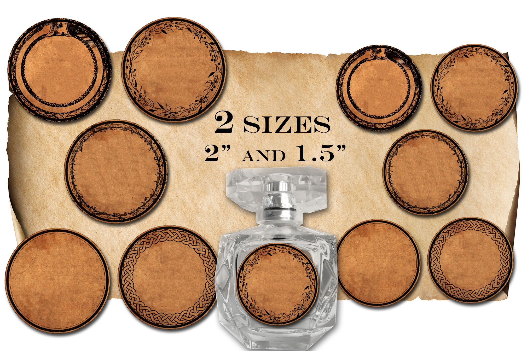 """2"""" ROUND APOTHECARY LABELS"""