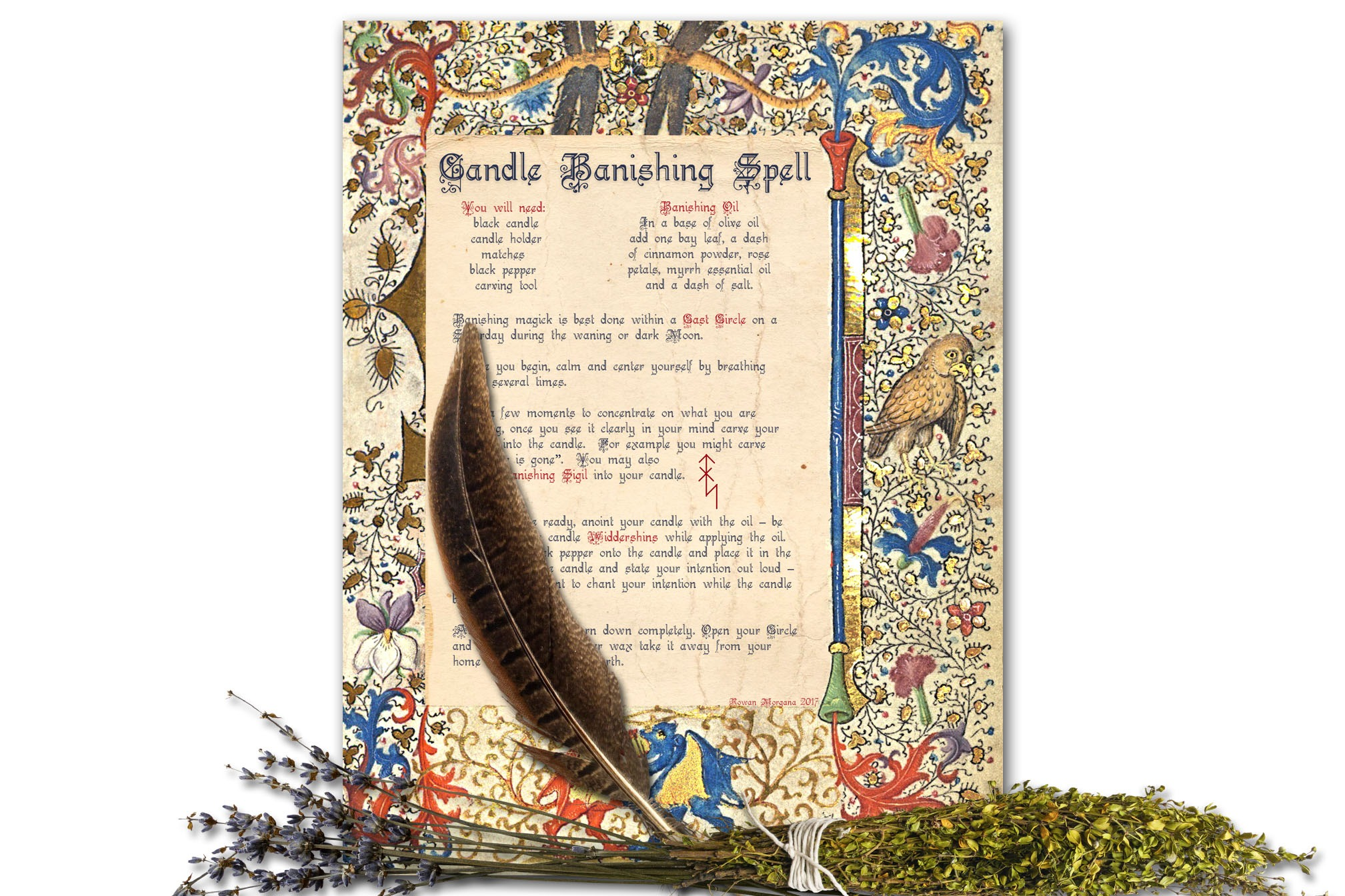 """CANDLE BANISHING SPELL  """"Charmed"""""""