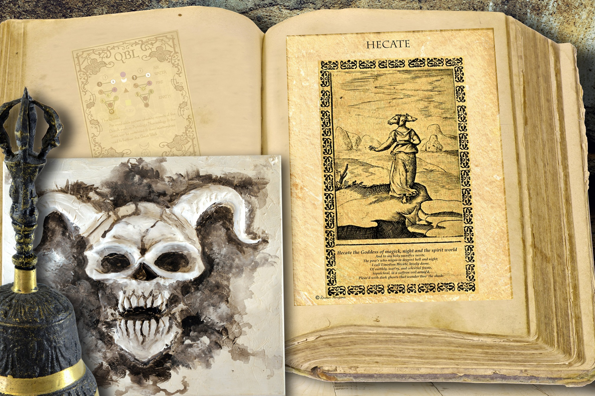 GODDESS HECATE Ancient Parchment
