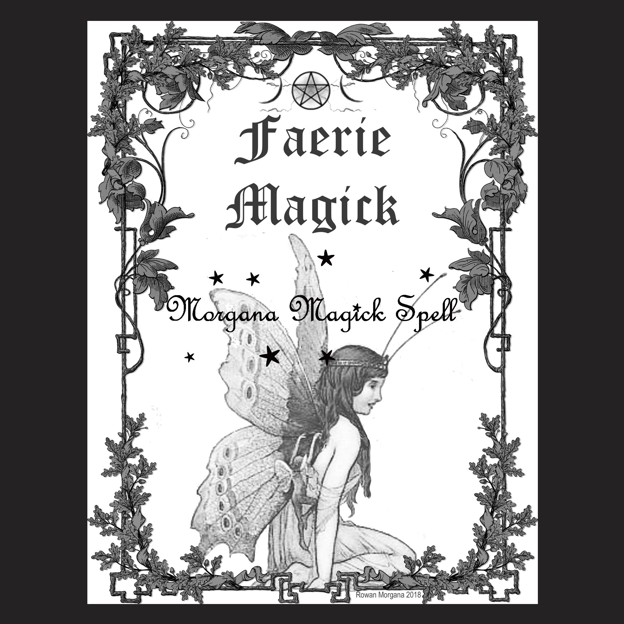 FAERIE MAGICK Book of Shadows Title Page