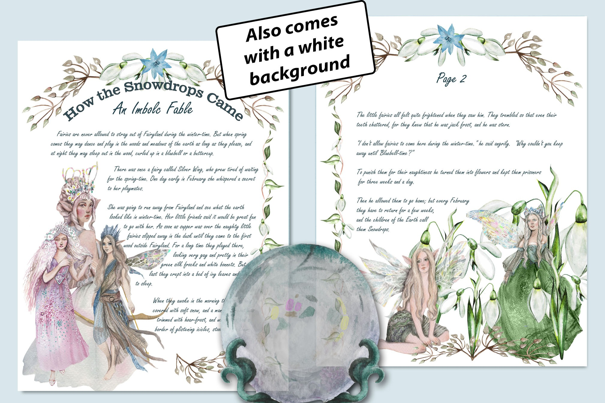 IMBOLC FABLE  *How the Snowdrops Came* - 2 Pages