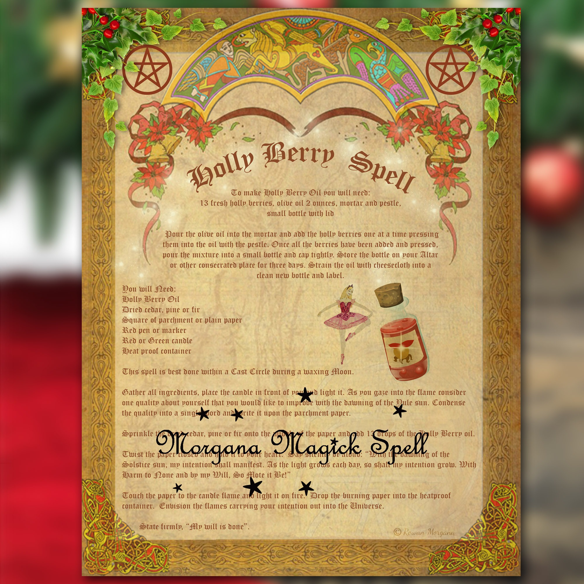 YULE HOLLY BERRY SPELL