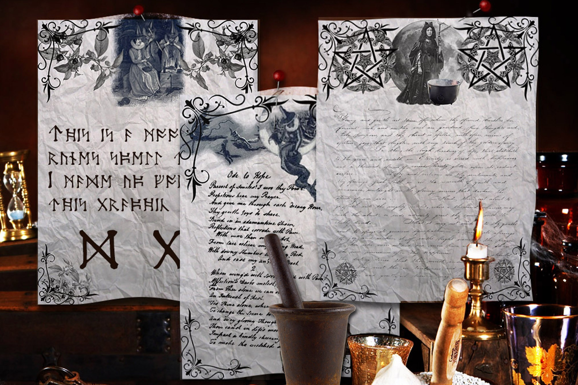 OLD WITCHES  3 Pages for Book of Shadows
