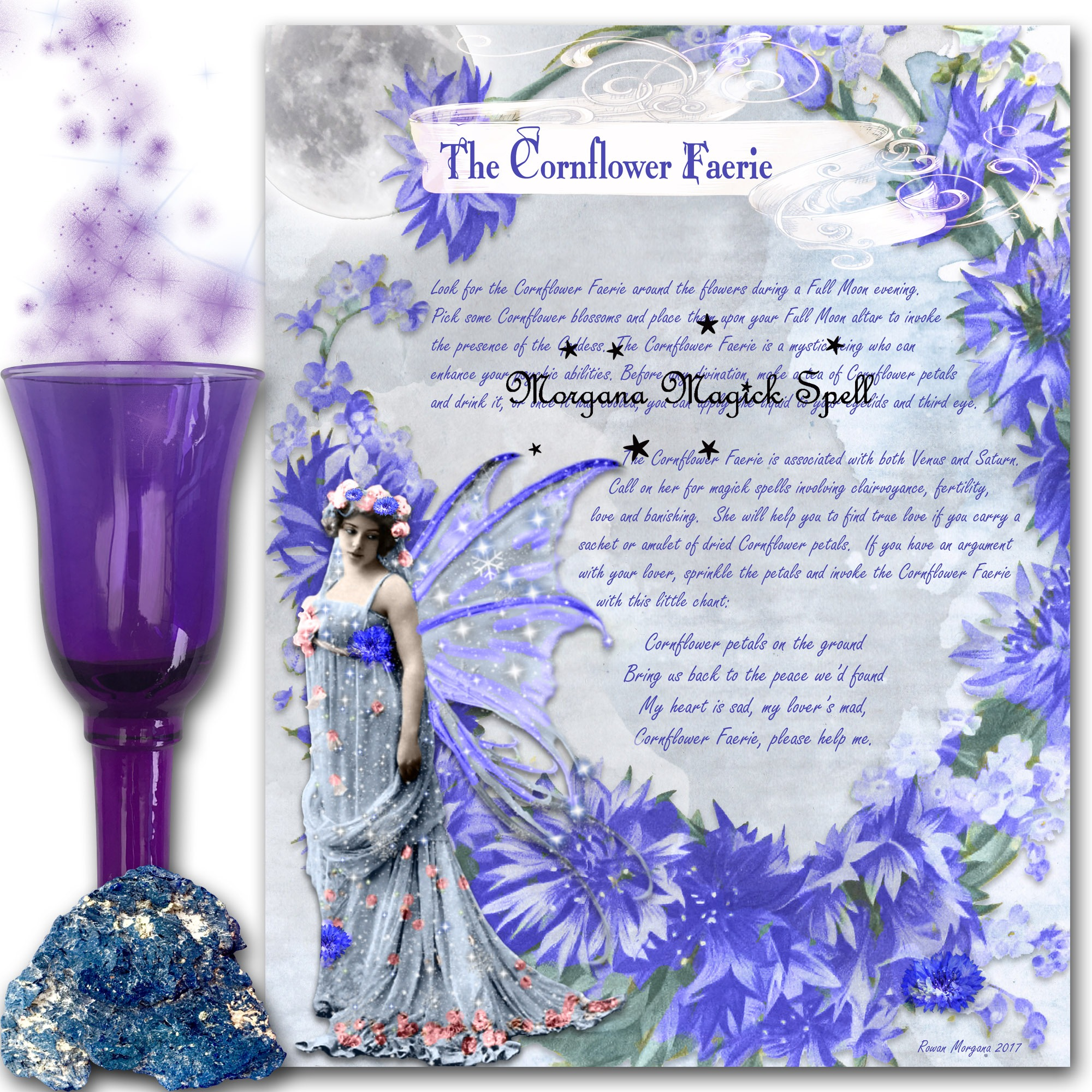The CORNFLOWER FAERIE Realm of the Fey Lore