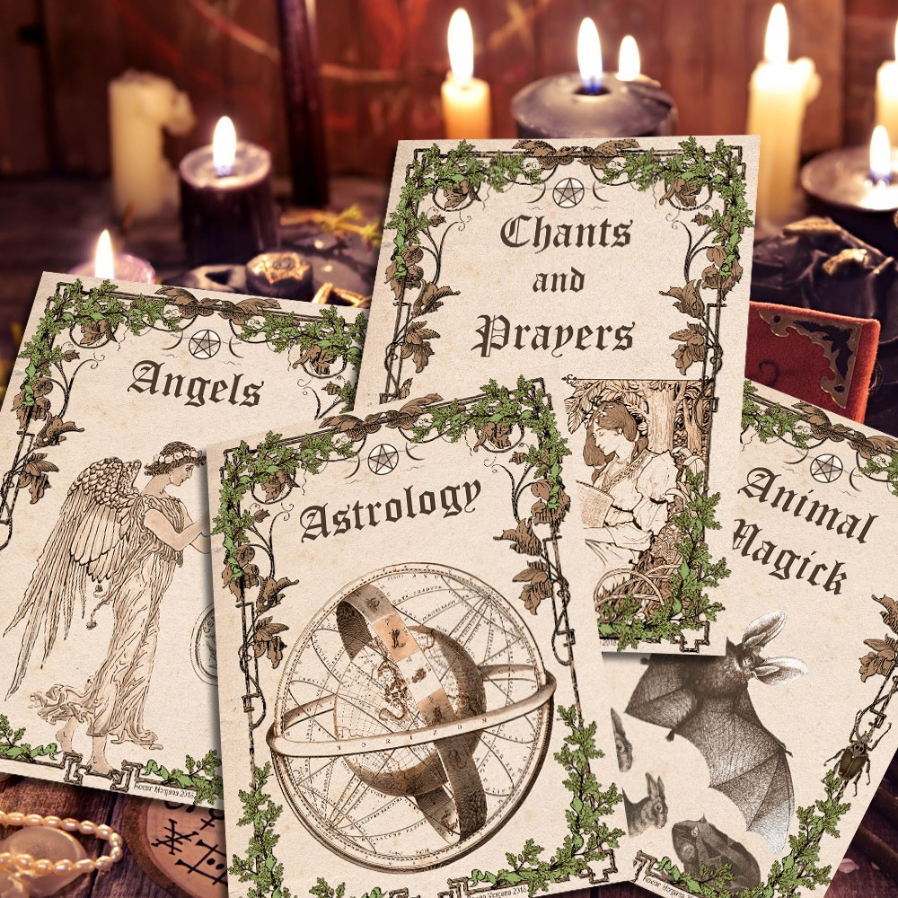 ALL 16 Book of Shadows TITLE PAGES - Parchment
