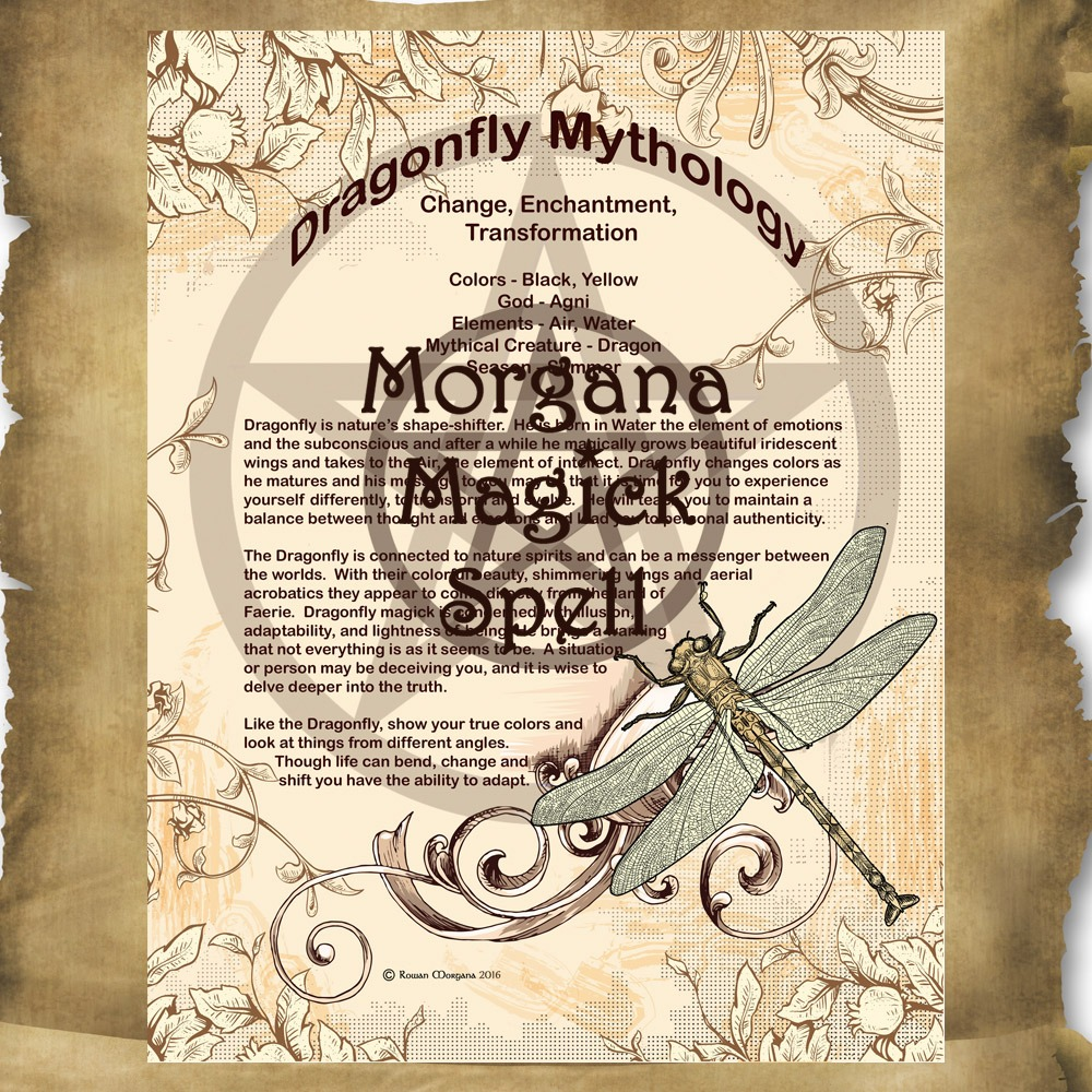 DRAGONFLY MYTHS and CORRESPONDENCES