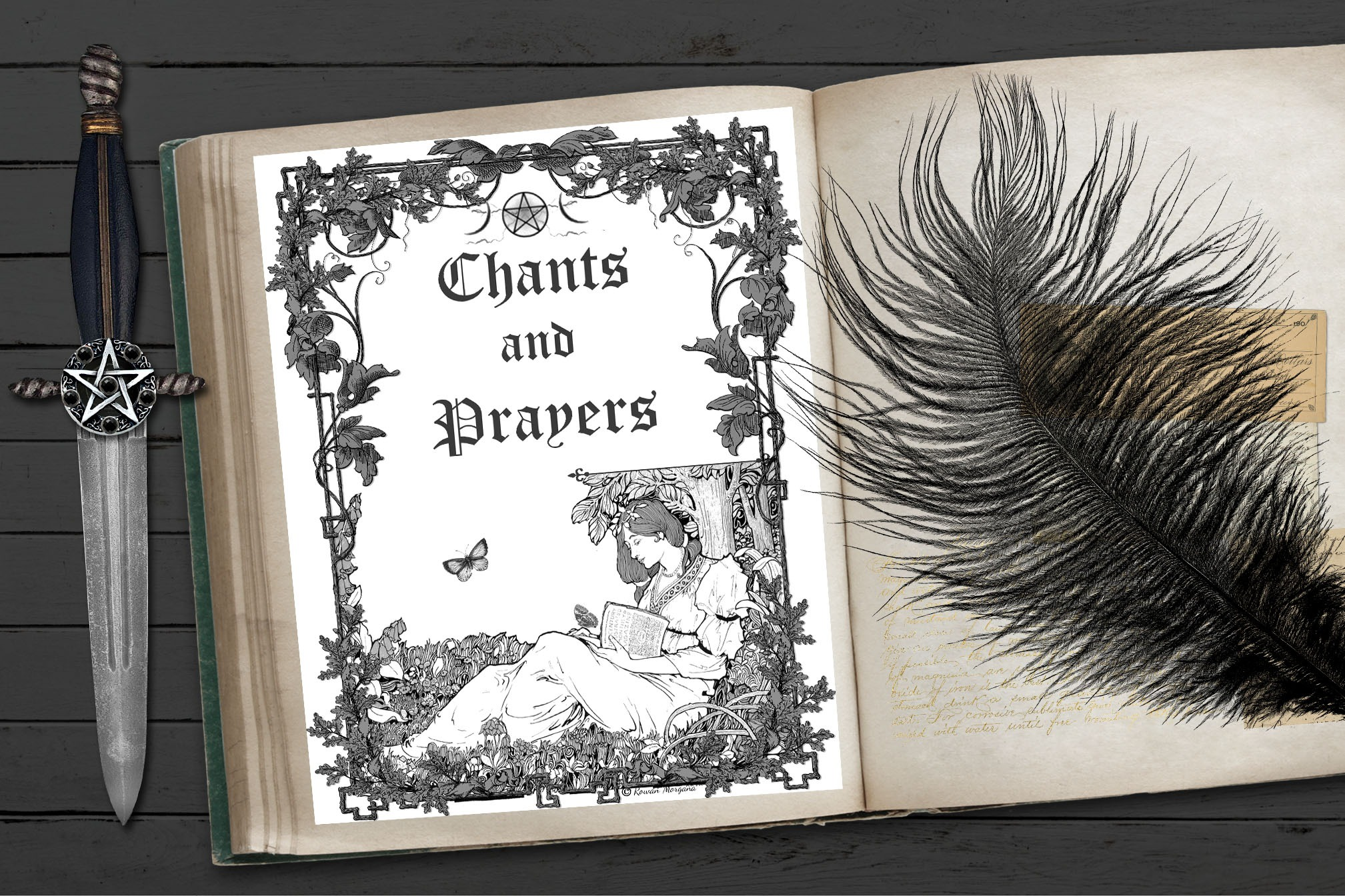 CHANTS & PRAYERS Book of Shadows Title Page