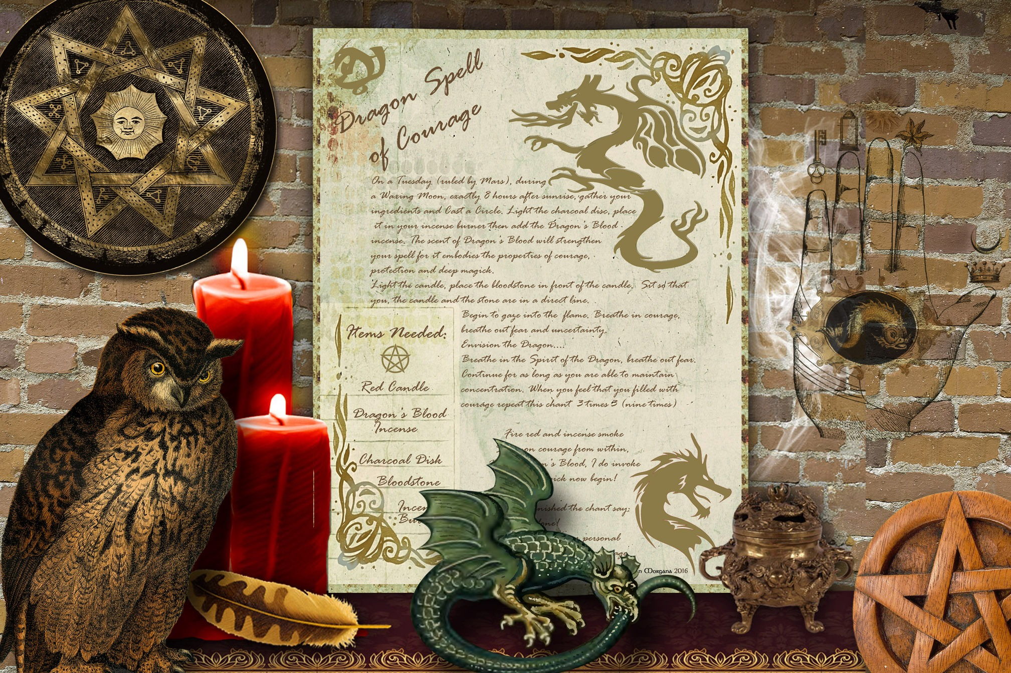 DRAGON SPELL of COURAGE