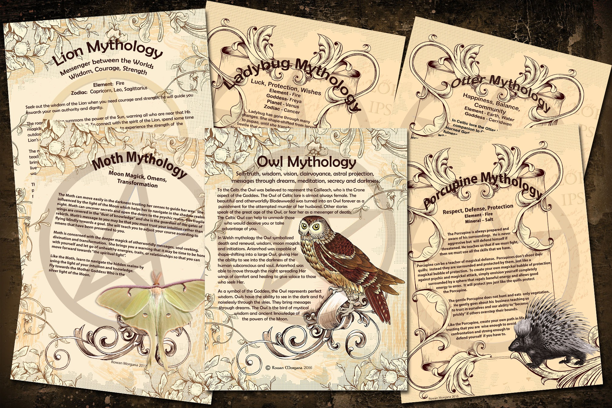 ANIMAL Myths & Correspondences -  21 Pages