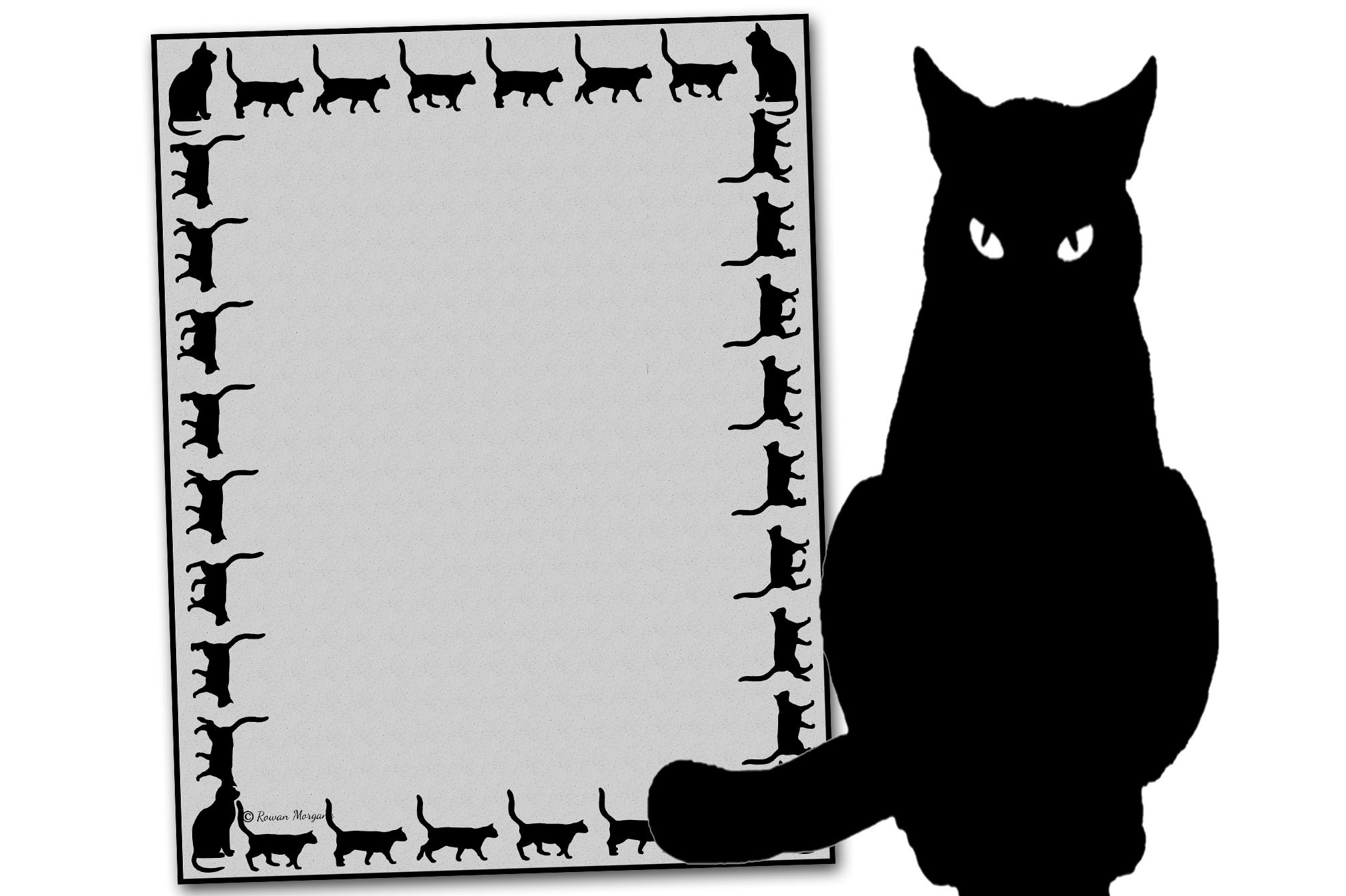 BLACK CAT  Page for Book of Shadows
