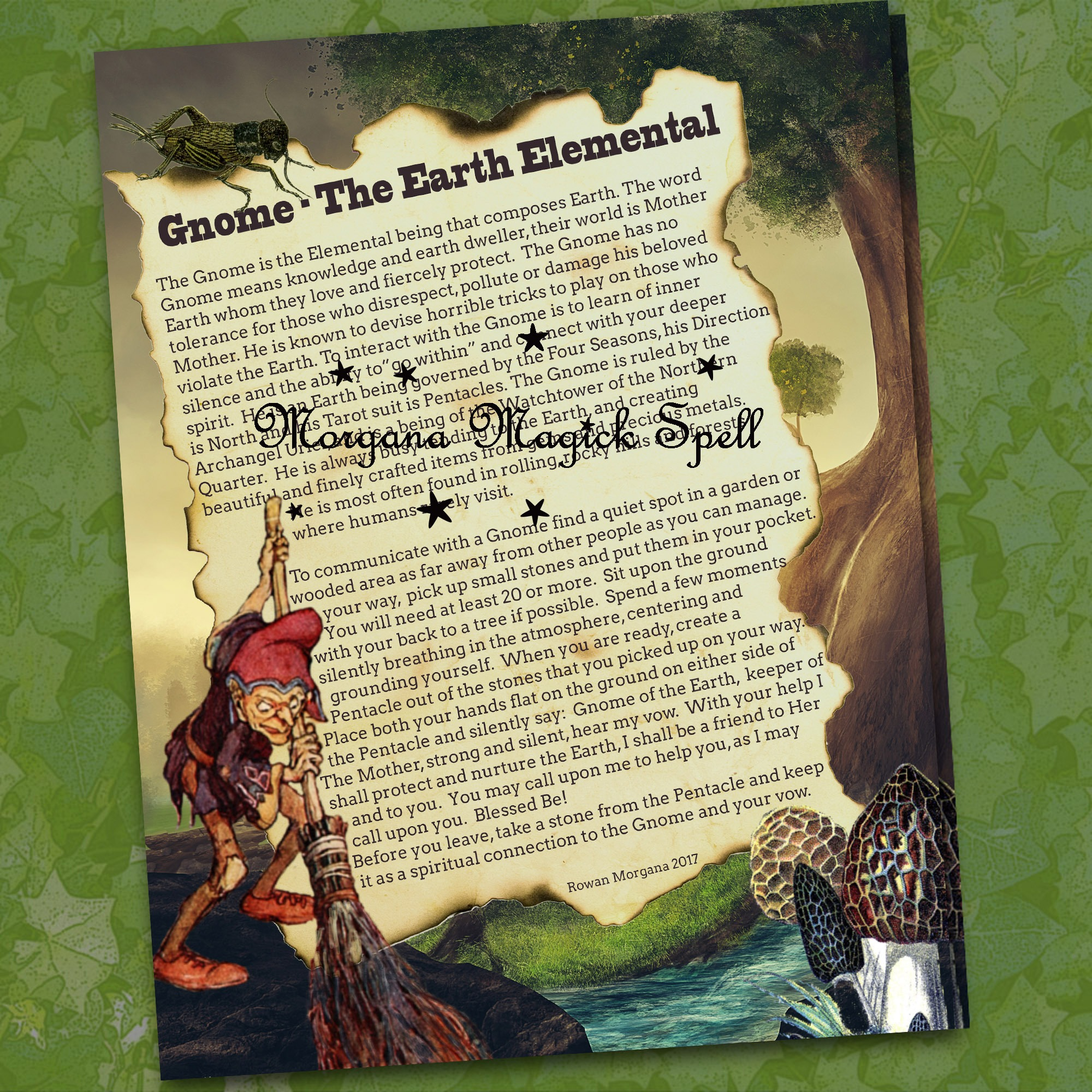 GNOME the EARTH  ELEMENTAL  Realm of the Fey Lore
