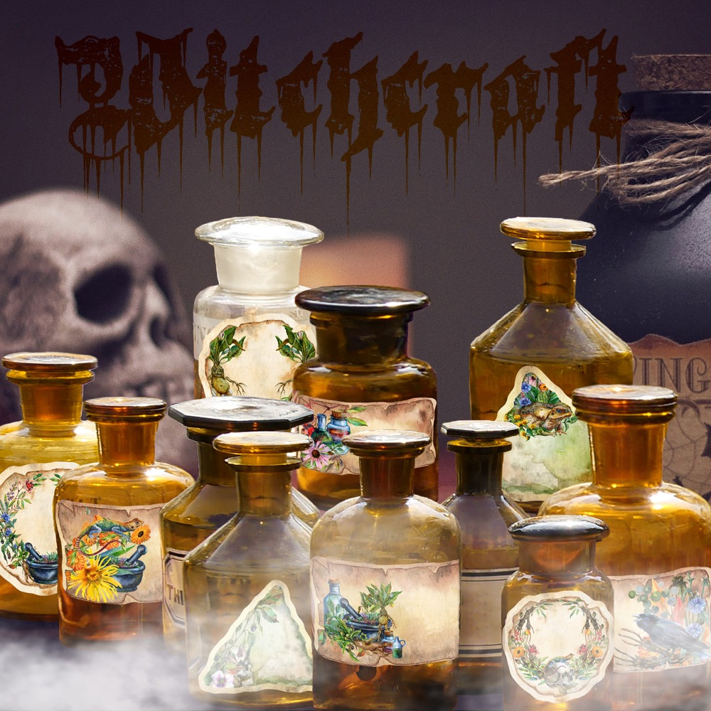 WITCHCRAFT ALCHEMY LABELS - 9 Labels