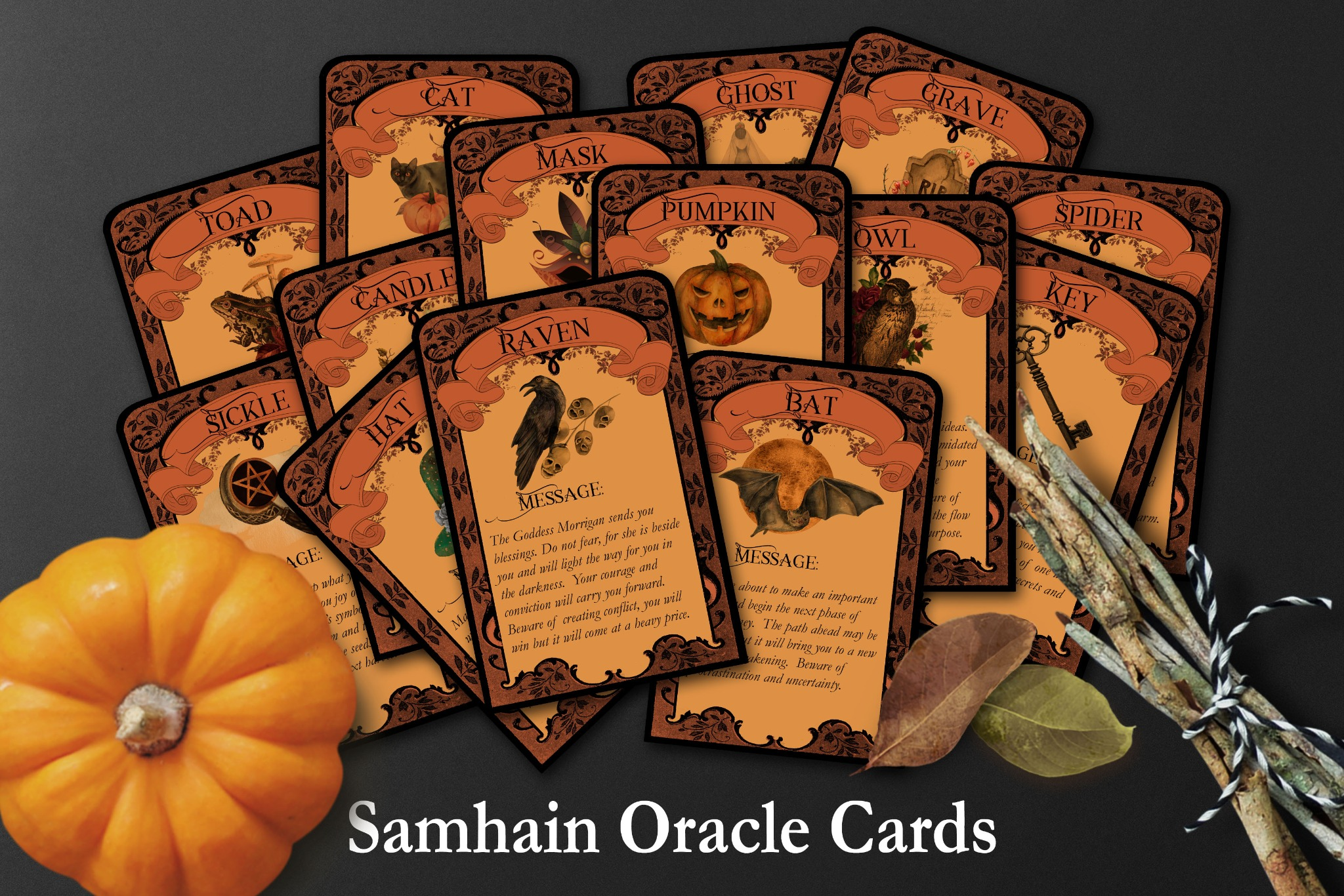 SAMHAIN ORACLE CARDS   Tarot Cards to Print at Home