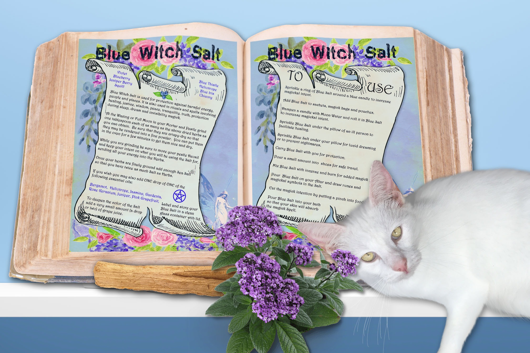 BLUE WITCH SALT Recipe - For Protection and Healing