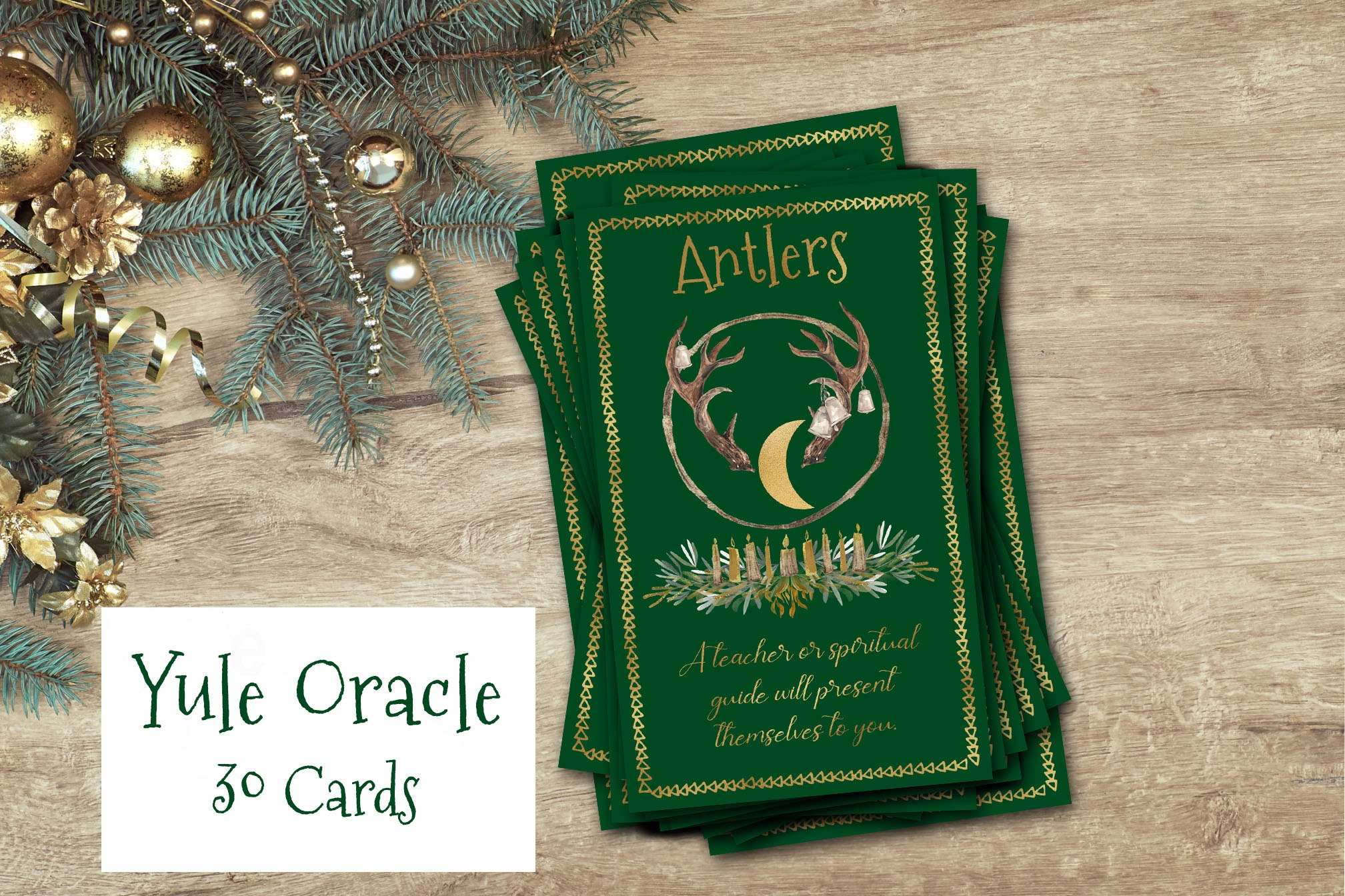 YULE ORACLE CARDS  Tarot Cards to Print at Home