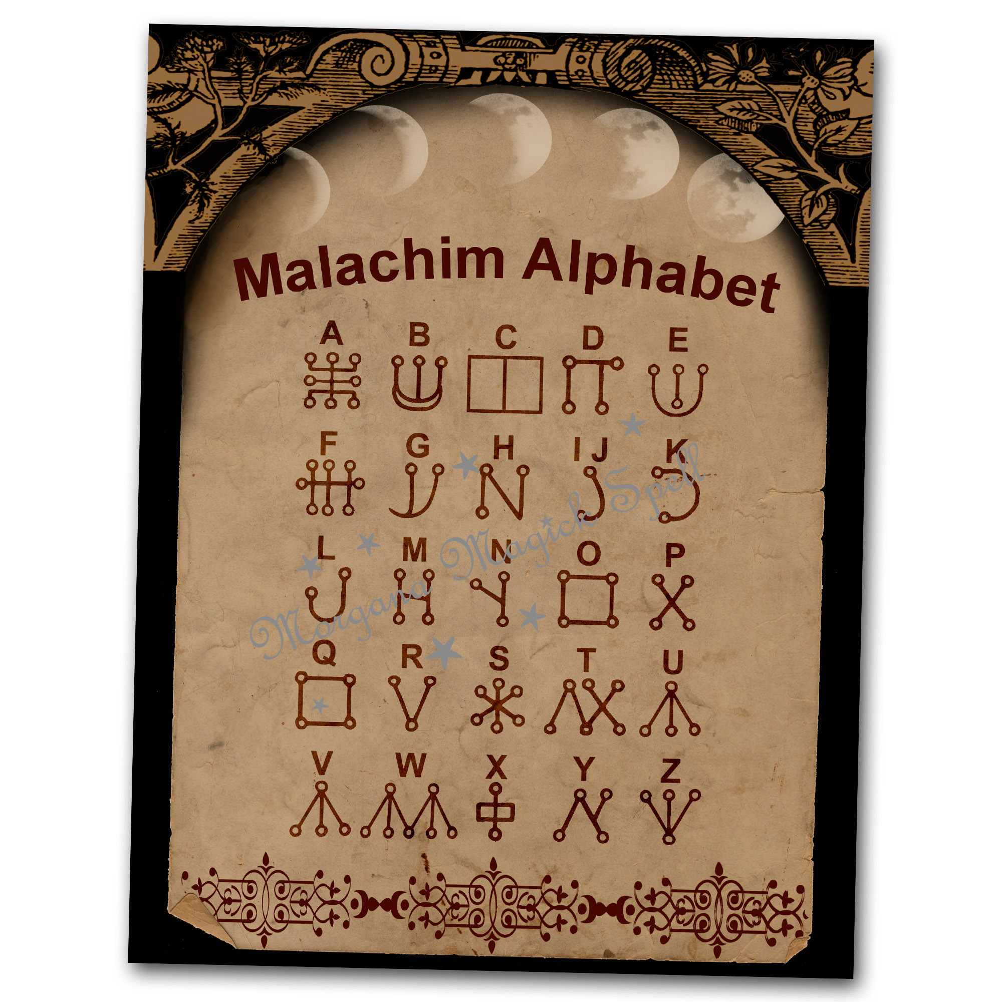 THE MALACHIM ALPHABET