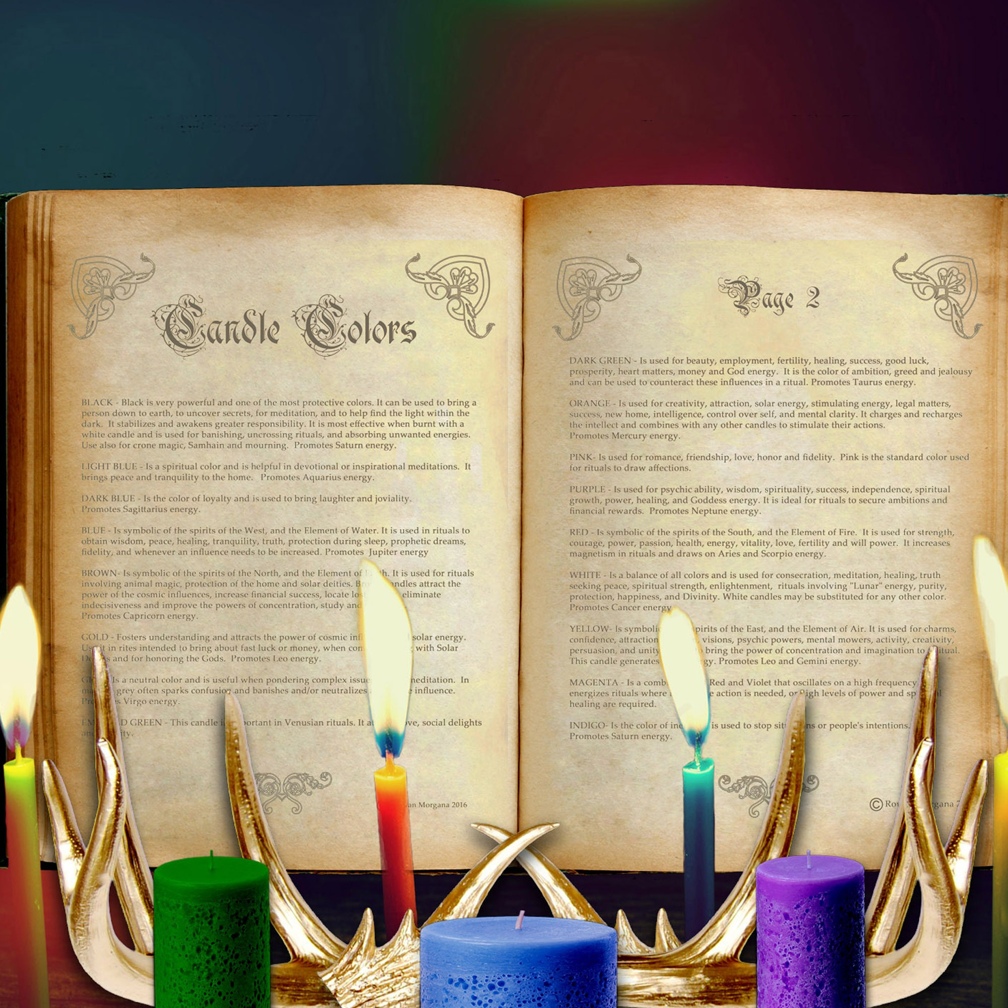 CANDLE COLOR CORRESPONDENCES