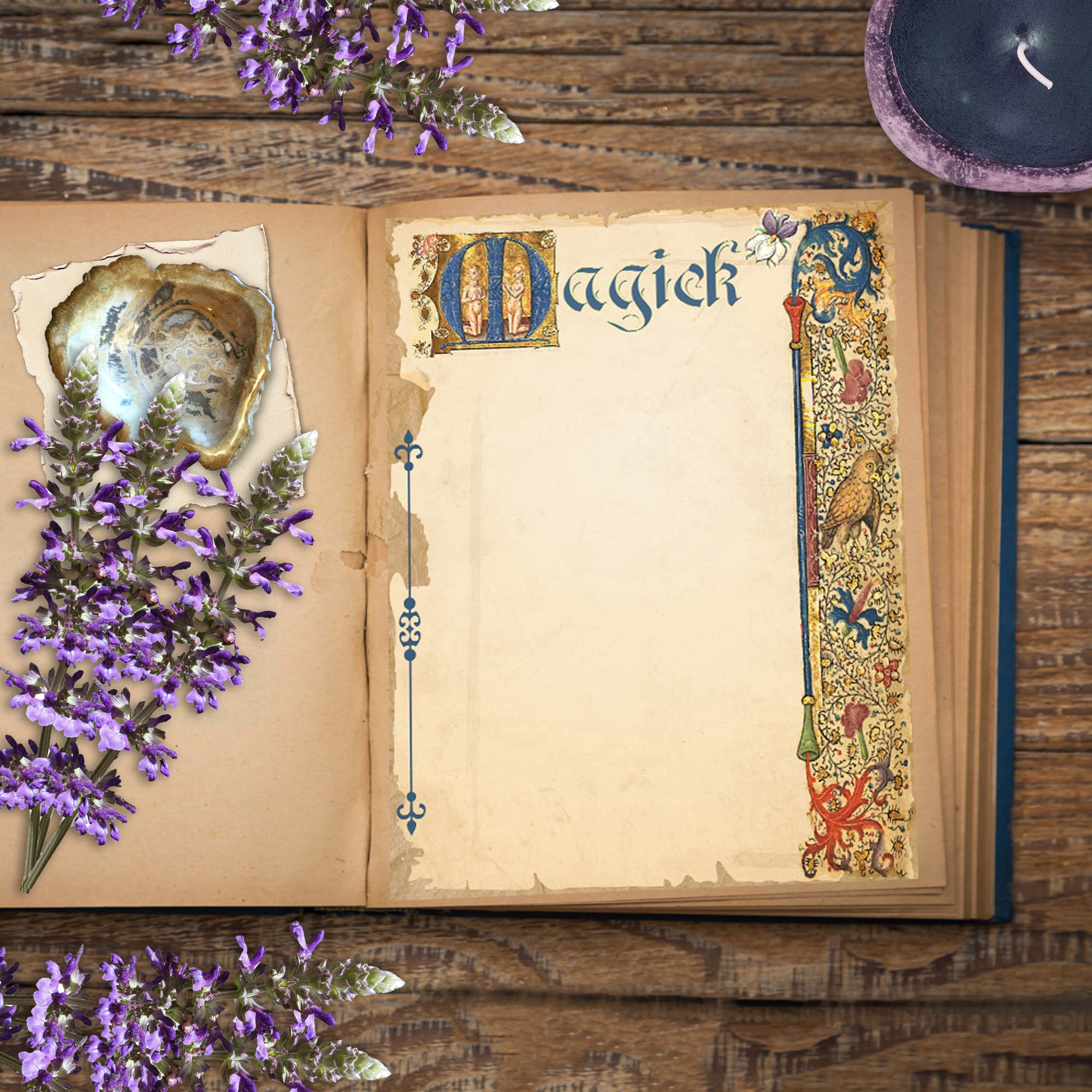 MAGICK BLANK PAGE  for Book of Shadows