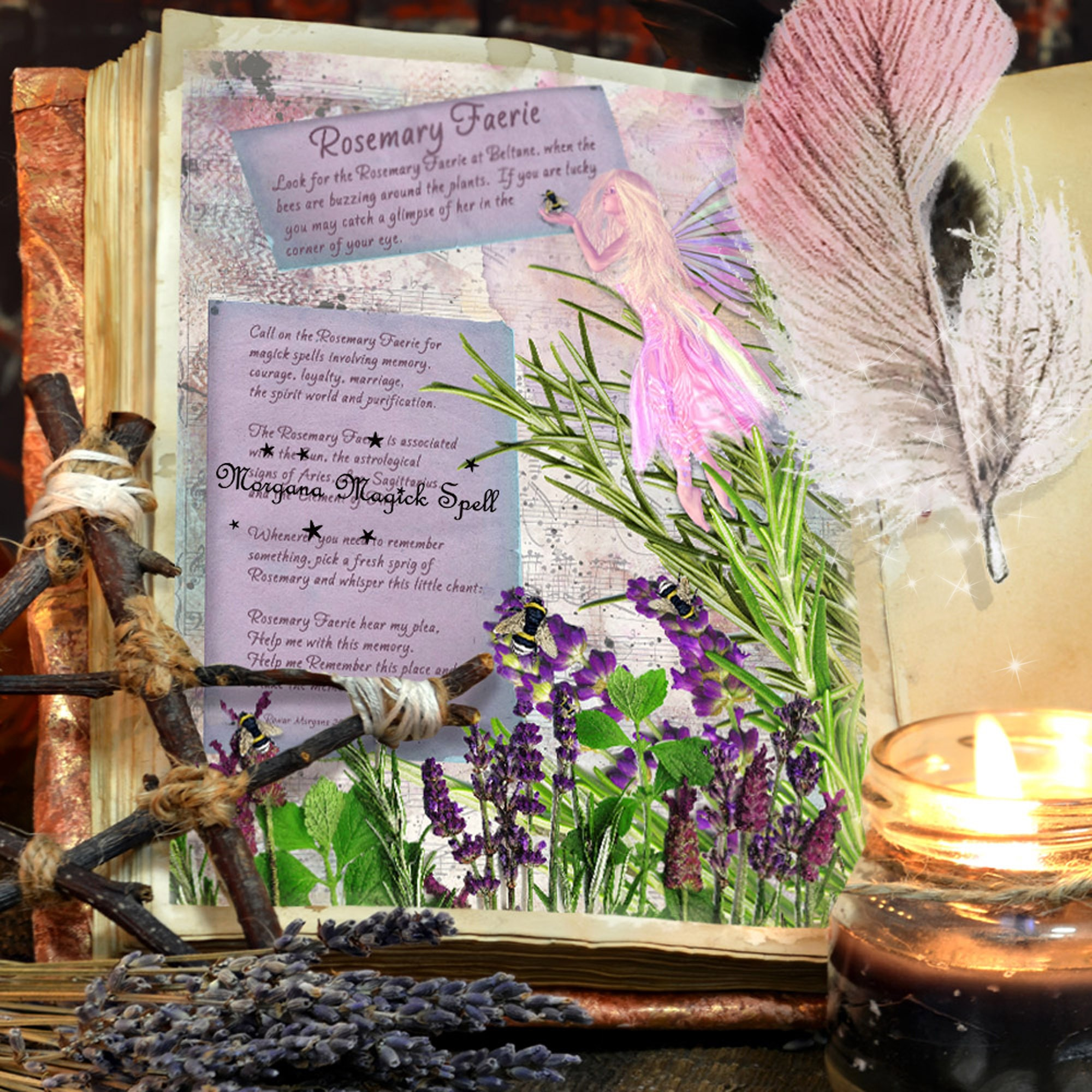 The ROSEMARY FAERIE Realm of the Fey Lore